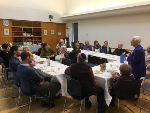 Prof. Frankel presents at Harvard Hillel on December 14, 2019